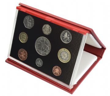 2002 Proof set red Leather deluxe
